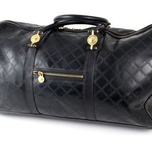 Versace Black Leather Duffle